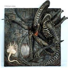 Alien Plaque, sculptured by Narin