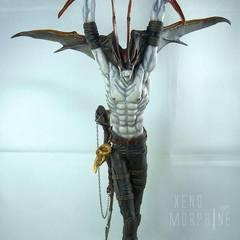 DevilMan, sculptured by Yasushi Nirasawa