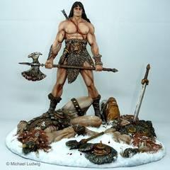 Conan Diorama, sculptured by Shawn Nagle