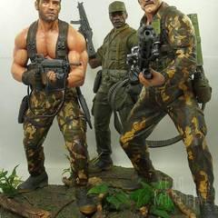 Dutch, Mac and Blain, sculptured by Rocco Tartamella
