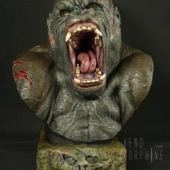 King Kong Bust, sculptured by Tomek Radziewicz
