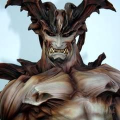 Devilman, sculptured by Takayuki Takeya